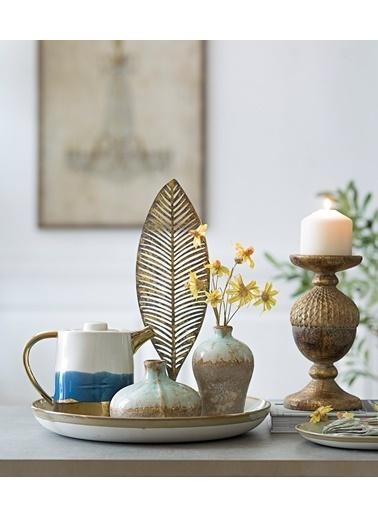 Warm Design Porselen Çaydanlık Mavi